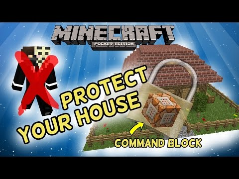 MCPE :: Protect your House against Griefers with Command Blocks! :: Minecraft Pocket Edition 1.0.5