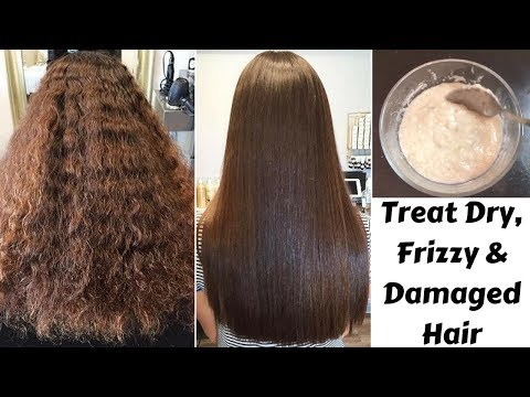 How To Get Rid Of Dry, Frizzy & Damaged Hair | #HairCareWeek Day 1 | Deep Conditioning Hair Mask
