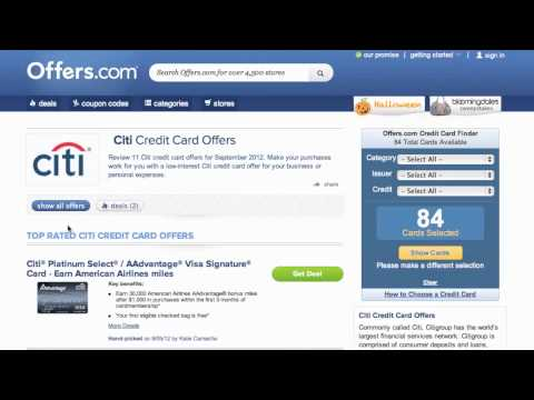 Citi Credit Card Offer 2013 - How to use Offers for Citicards.com
