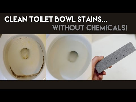 How to Clean Toilet Bowl Stains...Without Chemicals!