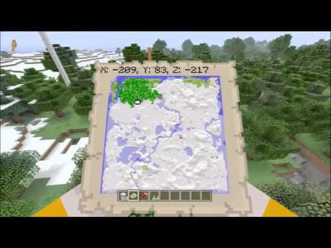 Minecraft Xbox 360 Seeds - Snow Seed, Pumpkins and Floating Library