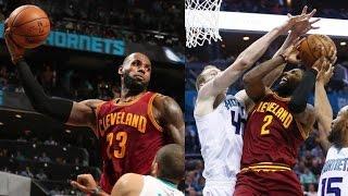 LeBron James Dunks and Lob to Old Man Richard Jefferson! Cavs vs Hornets