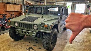 Bad News on the Humvee...