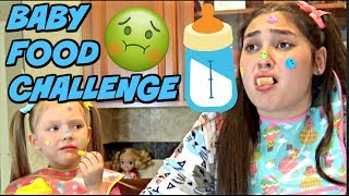Download BABY FOOD CHALLENGE! IT gets CRAZY! The TOYTASTIC Sisters.FUNNY CHALLENGE! Video