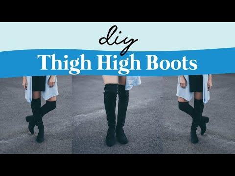 DIY THIGH HIGH BOOTS