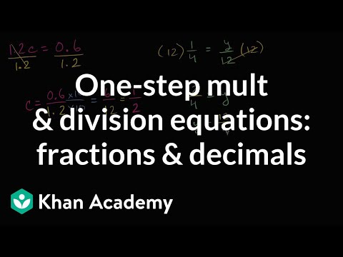How to solve one-step multiplication and division equations with fractions and decimals