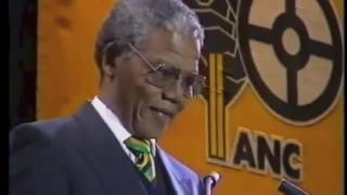Mandela Wembley Stadium release from prison speech 1990
