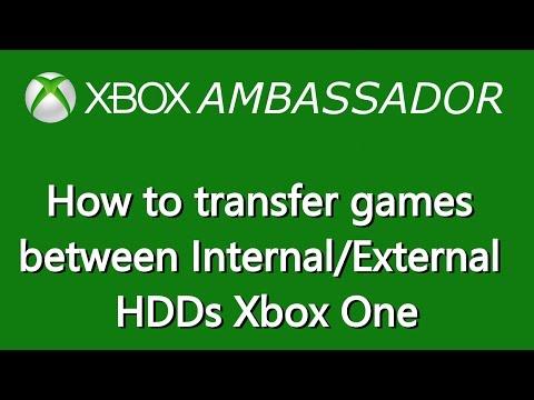 How to transfer games between internal/external Hard drives (HDD) Xbox One | Xbox Ambassador Series