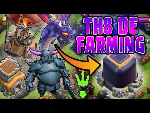 HOW TO TH8 DARK ELIXIR FARM - Three TH8 DE Farming Strategies - Clash of Clans - Easy Farming