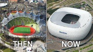 Bundesliga Stadiums Then & Now