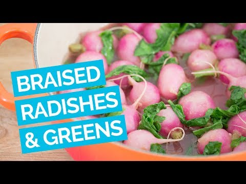 Braised Radishes & Greens Recipe