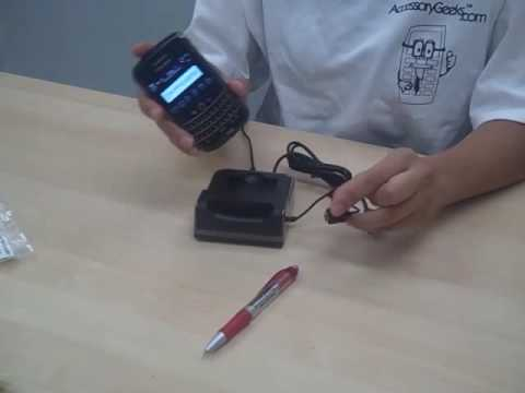 Blackberry Tour 9630 3-in-1 Desktop Cradle Charger & Sync