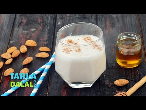 Almond Honey Cinnamon Milk, Healthy Vegan Breakfast Recipe by Tarla Dalal