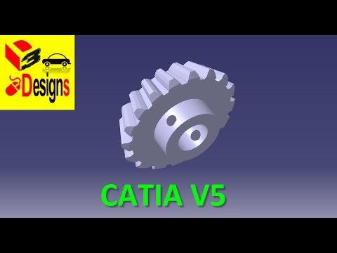 CONICAL GEAR -  ENGRENAGE CONIQUE DROIT - Catia V5