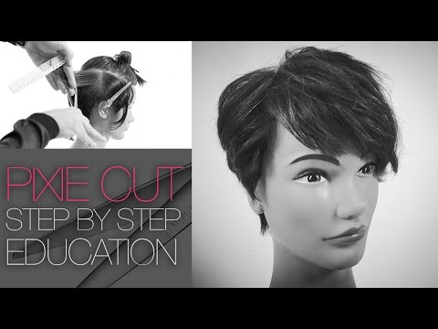How to cut The Tyra Banks Pixie Haircut  - Step by Step - Q & Haircut