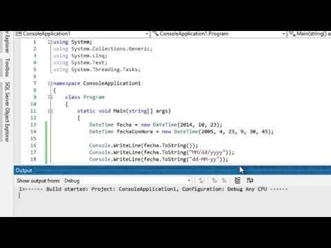 Trabajando con DateTime en C# | Fundamentos de C# | Programando en C#