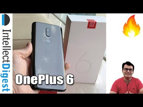 What Is Inside OnePlus 6 Indian Box? Speed Unboxing 128 GB Mirror Black | Intellect Digest