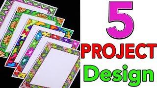 5 Border Designs Border Designs On Paper Project File