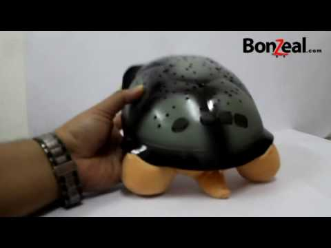 Turtle Projection Night Lamp Unboxing & Demo by BonZeal