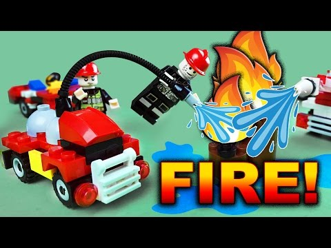 FREE GIVEAWAY 4Fire-Fighting Building Blocks Series. Box Opening, Build & Play. Let's Play Kids.