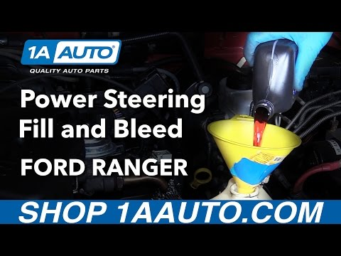 How to Fill and Bleed Power Steering Fluid System 2001 Ford Ranger Buy Parts from 1AAuto.com