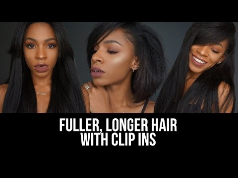 The BEST Clip-Ins For Short, Natural Hair! ▸ VICKYLOGAN