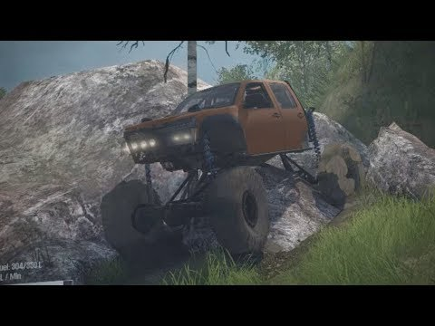 CHEVY COLORADO CRAWLER PART 2! Wyre Woods Trails Exploration! (SpinTires Mudrunner Mods)