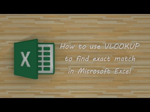 How to use VLOOKUP to find exact match in Microsoft Excel