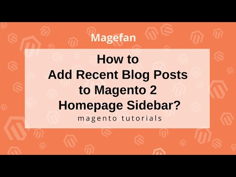 Add recent blog posts to the  Magento 2 Homepage Sidebar