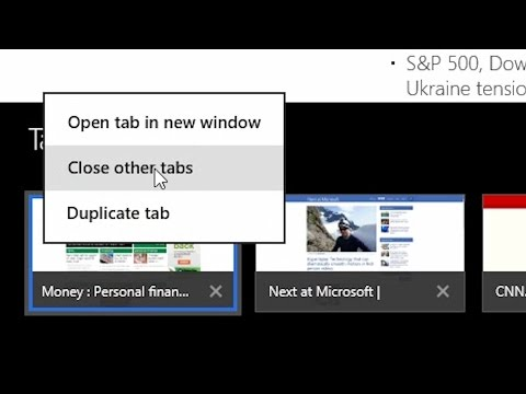 Windows 8.1 - IE 11 Tip - Close All Other Tabs with One Click