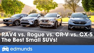 Toyota RAV4 vs. Nissan Rogue vs. Honda CR-V vs. Mazda CX-5! Best SUV for 2021 Comparison Test