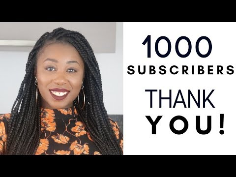 1000 Subscribers! Thank you 😃