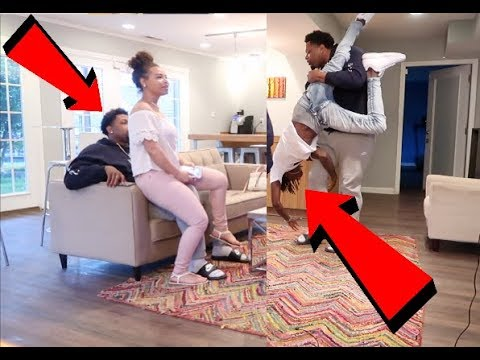 HAVING YOUR GIRLFRIEND SIT ON MY LAP PRANK!!! (GONE WRONG)