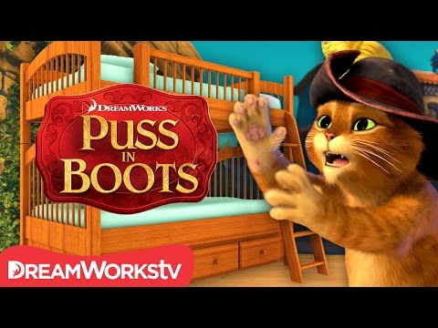 Bunk Bed Booby Trap | NEW PUSS IN BOOTS