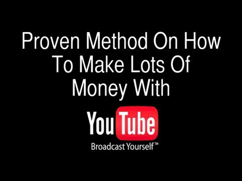 How To Make Money Online With Youtube - MUST WATCH!