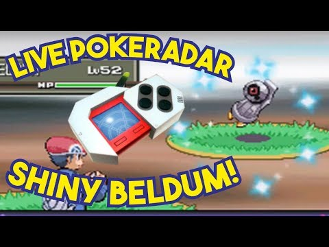 LIVE SHINY BELDUM IN PLATINUM AFTER POKERADAR CHAIN OF 11!!!!! Pokemon Platinum Shiny Hunting
