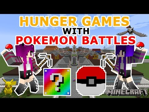Minecraft: Hunger Games with Pokemon Battles!!! Rainbow Lucky Blocks & Pixelmon Lucky Blocks!!!