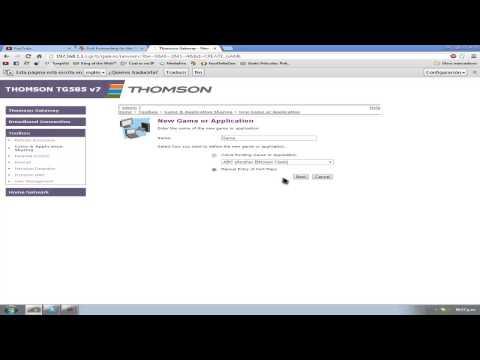 como abrir puertos en el router thomson tg585 v7