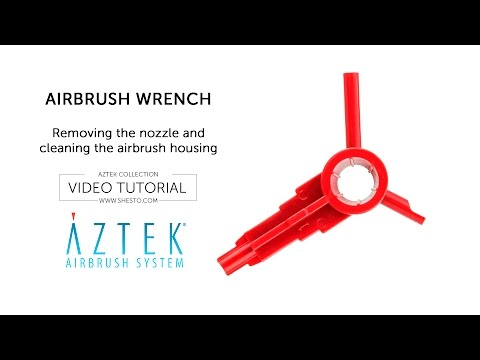 Aztek Airbrush Wrench - Removing the Nozzle and Cleaning the Airbrush Housing