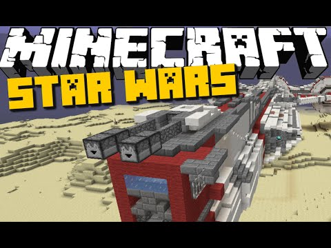 Minecraft Mod Showcase: STAR WARS Mod (New Aircrafts and Lightsabers)