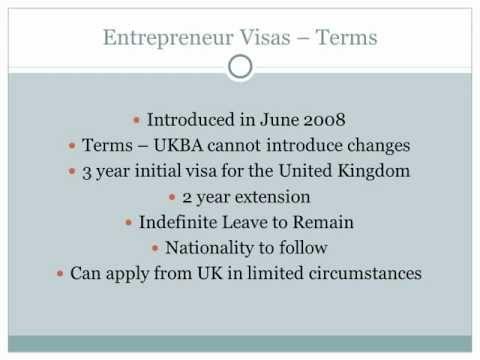 UK Entrepreneur Business Visa