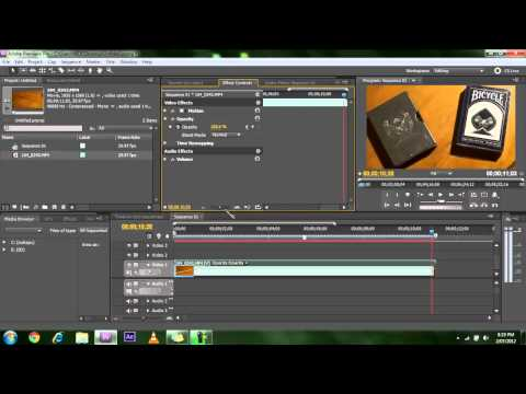 Adobe Premier Cs5 Tutorials - How to Apply Opacity and Position Key Frames