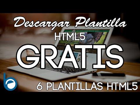 6 PLANTILLAS HTML5 GRATIS para Descargar y editar