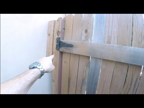 Fixing A Sagging Gate And Replacing A Fence Post | THE HANDYMAN |