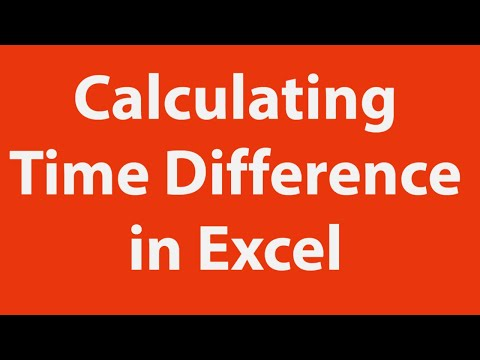 Calculating time difference in MS Excel