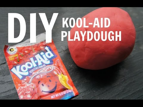How to Make Kool-Aid Playdough - no cream of tartar, no cooking recipe
