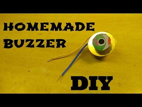 How to make simple piezo buzzer at home