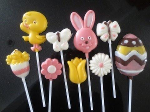 Easter chocolate  lollipop