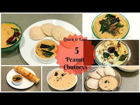 Chutney Recipes for Idly, Dosa & vada | Peanut chutney varieties | chutney recipes for breakfast
