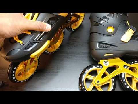 Epic Skates Engage 3-Wheel Inline Speed Skates  (Unboxing / demo)